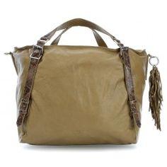 wardow.com - #trend #natur #Liebeskind Snake Anessa Shopper genarbtes Rindsleder olivgrün