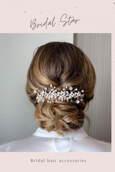 This Pin was discovered by Bridal Star wedding hair accessories. Discover (and save!) your own Pins on Pinterest. Bridal Hair Down, Bridal Hair Half Up, Wedding Hair Down, Wedding Hair Pins, Headpiece Wedding, Bridal Headpieces, Star Wedding, Hair Vine, Wedding Hair Accessories
