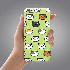 Neko Atsume Cat iPhone 6S Case Cat iPhone 5S Case iPhone 6 Case iPhone 6 Plus Case Samsung Galaxy S5 S6 Edge Case iPad Air 2 Case Funny Case
