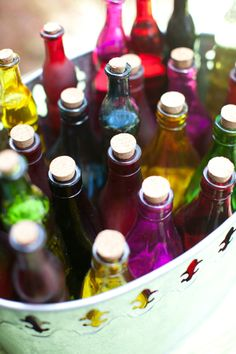Vintage bottles of o