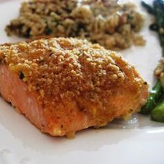 Baked Salmon Fillets Dijon | Delicious salmon ready in 25 minutes, using just 4 ingredients.