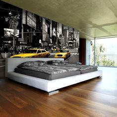 Brick Interior, Interior Walls, Interior Design, New York Theme, Room Wanted, Luxury Bedroom Design, Bedroom Murals, Bedroom Accessories, Room Wallpaper