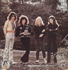QUEEN!  Freddie Mercury, Brian May, Roger Taylor and John Deacon.