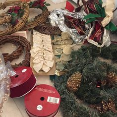 Sale!! Lots of new and Vintage Christmas decorations! Ribbons, Wreaths, Garlands! Kick off your holidays with a box of decorating supples