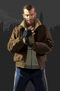 View an image titled 'Niko Bellic Art' in our Grand Theft Auto IV art gallery featuring official character designs, concept art, and promo pictures. San Andreas, Grand Theft Auto Games, Grand Theft Auto Series, Resident Evil, Video Game Logic, Video Game Characters, Rockstar Games Gta, Capas Samsung, Gamer 4 Life