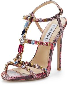 Steve Madden Majestic Jewelled Strappy #Shoes