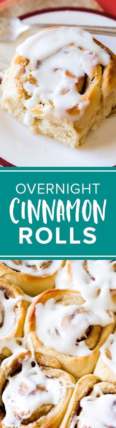 Overnight make ahead cinnamon rolls you begin the night before! Breakfast and brunch cinnamon rolls with cream cheese frosting. http://sallysbakingaddiction.com/2014/12/24/overnight-cinnamon-rolls/