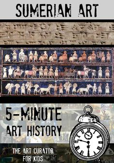 The Art Curator for Kids - 5-Minute Art History - Sumerian Mesopotamian Art - Video and Printable! Sumer Art Conventions