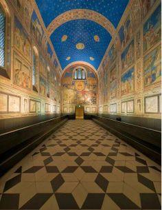 Cappella degli Scrovegni,affreschi di Giotto. Padova pic.twitter.com/3jU4mmOfrS