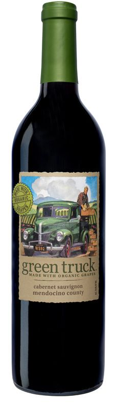 Green Truck Cab. 80% Cab, 20% Merlot. Winemaker John Allbaugh Organic from Mendocino County. Another wine from Bronco.