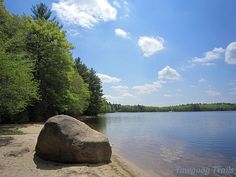 Late spring view of the eastern shore of #Yawgoog Pond.  Image by David R. Brierley.