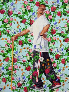 Le Roi a la Chasse by Kehinde Wiley at the Blanton Art Museum