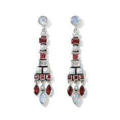 Nicky Butler 9ct Garnet and Multigemstone Sterling Silver Drop Earrings at HSN.com