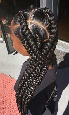 41 best jumbo box braids hairstyles The Effective Pictures We Offer You About natural afro hairstyle Blonde Box Braids, Short Box Braids, Braids For Black Hair, Jumbo Braids, Large Box Braids, Big Braids, Ghana Braids, African Braids, Jumbo Crochet Box Braids