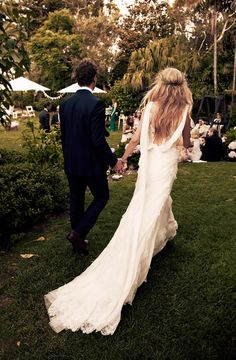 The 15 Most Gorgeous Wedding Dresses to Ever Grace the Pages of Vogue via @WhoWhatWearUK