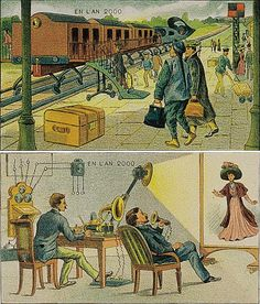 Villemard's Vision: 1910 Poster of Life in  the Year 2000