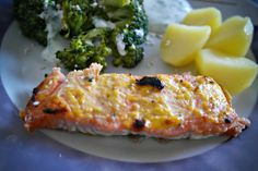 salmon in orange horseradish