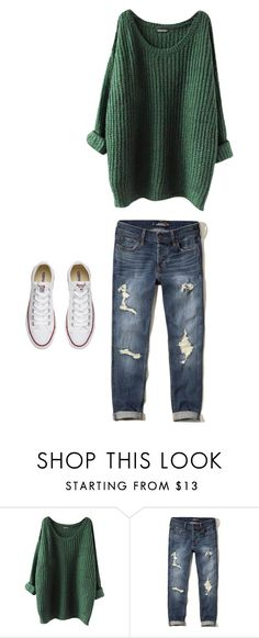 """""""Untitled #159"""" by beachbumxoxo on Polyvore featuring Hollister Co. and Converse"""