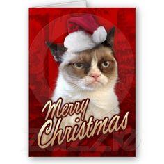 Merry Christmas Grumpy Cat Greeting Cards