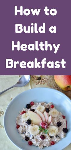If you are not a breakfast eater, you need to go read my post about why you need to eat breakfast. Then come back here to learn how to build a healthy breakfast. I love breakfast foods. Sometimes I eat breakfast for lunch or even dinner.
