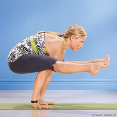 Tittibhasana (Firefly Pose). Fire up your core strength as you fly! Learn how: www.yogajournal.com/practice/2821