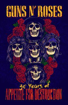 Guns+N'+Roses+Print+by+Tidar+Maulana+W+on+CreativeAllies.com
