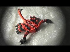 3D origami how to make a scorpion (modular origami) tutorial - YouTube