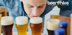Man smelling craft beer by Click_and_Photo. Close-up of blond man smelling different craft beer with froth Dark Beer, Light Beer, Banff Film Festival, Food Truck Festival, Taylors Falls, Beer Photos, Coffee Wine, Classic Horror Movies, Blonde Guys