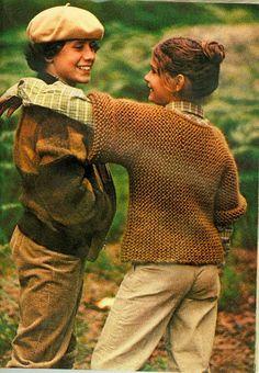 MES FAVORIS TRICOT-CROCHET: Tricot vintage : Le pull tube pour enfants