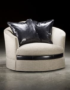 High End Upholstered Furniture. Art Nu Voe Style Double Size Swivel Chair,  High Quality