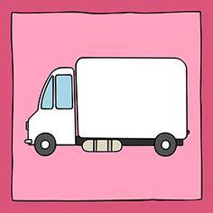 Stoer schilderijtje van een vrachtwagen. Als decoratie voor de babykamer of kinderkamer. Je kan hem ook personaliseren door er een naam op te zetten. Ook leuk om cadeau te geven bij een geboorte.