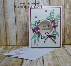 Floral Frames Happy Retirement, Stampin Up, Catalog, Frames, Floral, Flowers, Cards, Foil Stamping, Frame