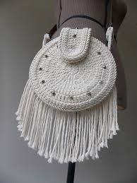 Resultado de imagem para bolsas de croche e couro