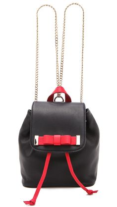 Backpacks have gone High Fashion - RED Valentino Leather Backpack