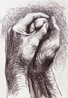 Cave to canvas, alecshao: henry moore - the artist's hands, 1974 drawing in Life Drawing, Figure Drawing, Painting & Drawing, Art Sketches, Art Drawings, Pencil Drawings, Drawings Of Hands, Drawing Hands, Sketches Of Hands