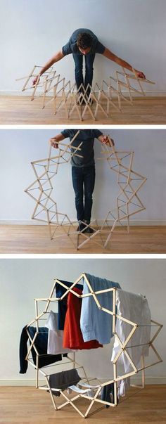 Star-shaped clothes horse | by Aaron Dunkerton