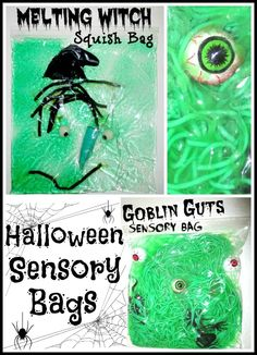Bring a touch of the sensory fun of the season indoors with these delightful Halloween sensory bins! A smorgasbord of sensory experiences for kids. Halloween Activities, Autumn Activities, Sensory Activities, Activities For Kids, Sensory Play, Kindergarten Sensory, Sensory Table, Baby Sensory, Teaching Activities
