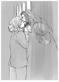 KaciartThorin and Bilbo sharing a kiss between the bars while Thorin is locked in Thranduil's dungeons. The Hobbit Thorin, O Hobbit, Bilbo Baggins, Thorin Oakenshield, Hobbit Art, Thranduil, Legolas, Johnlock, Destiel