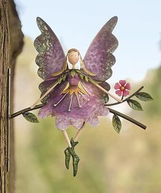 Look what I found on #zulily! Fairy On Branch Metal Wall Art #zulilyfinds