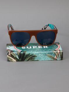 RETRO SUPER FUTURE Óculos de sol marrom.