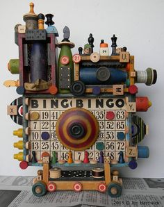 Game On  3D Recycled Assemblage  Found Object Art  by redhardwick $175.00
