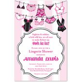 Lingerie Bridal Shower Invitations, Sexy Lingerie String Collection, 27723
