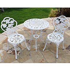 3pcs Patio Furniture Cast Aluminum Bistro Set Table & Chair #lawnandgarden #PatioFurniture #tables