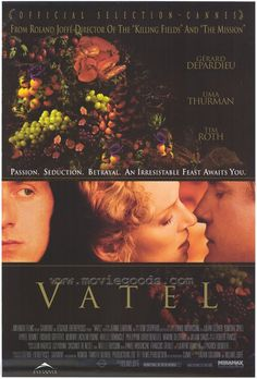 Vatel (2000): The film takes place in 1671. In the prelude to the Franco-Dutch War, a financially struggling Louis II de Bourbon, Prince de Condé is visited by King Louis XIV for three days of festivities at the Château de Chantilly. The prince wants a commission as a general, and spares no expense in order to impress the king.