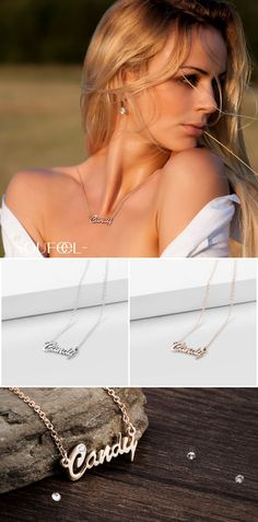 Personalize Name Necklace, Wear it Close to Heart. A Unique Special Love Gift.