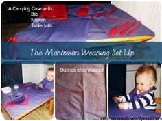 The Art of Weaning Part One: The Montessori Weaning Table Setting.