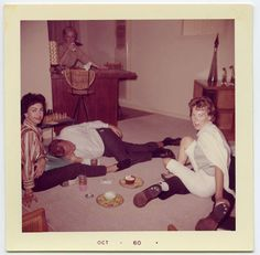 1960 Women Party While Men are Knocked Out    door Snapatorium, $10.00