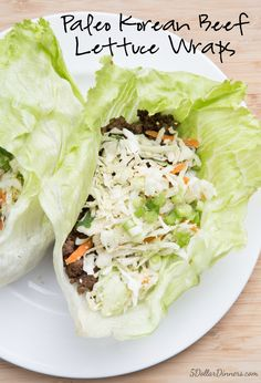 Korean Beef Lettuce Wraps ~ part of our 31 Days of Budget Friendly Paleo Recipes Series! These wraps were amazing…powerful flavors with simple ingredients! Paleo Recipes, Asian Recipes, Low Carb Recipes, Ethnic Recipes, Muffin Recipes, Lunch Recipes, Easy Recipes, Beef Lettuce Wraps, Lettuce Wrap Recipes