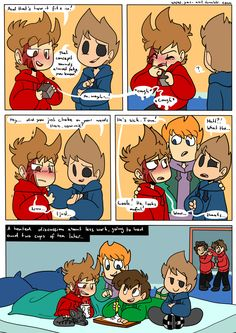 Awww… Tord got a bit sick! At least now they can help Edd out in drawing some more comics!