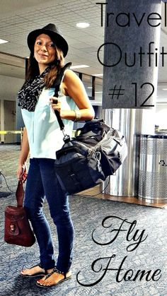 """Travel Outfit #12 """"Fly Home"""" My personal packing list from my trip to Tulum earlier this year featuring the travel outfits I wore from my 10 Piece Capsule Wardrobe. Check out this Beach Vacation Packing list for Mexico."""